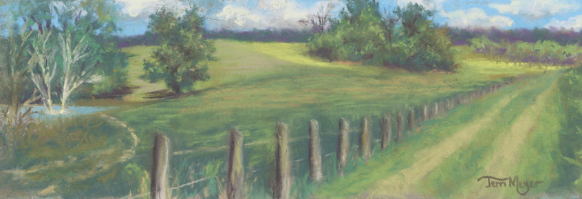 Ohio Country Landscape Painting by Ohio Artist Terri Meyer, Plein Air Landscape Painting