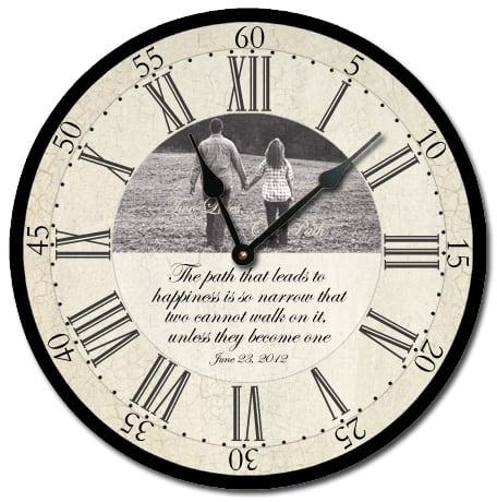 custom wedding clock