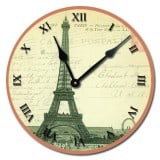 Vintage Eiffel Tower Clock, French Vintage Wall Decor Products