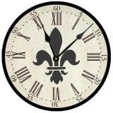 Fleur de Lis Clock, French Vintage Wall Decor Products