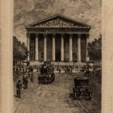 Vintage French Poster Egliese De La Madeleine