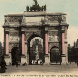 French Vintage Wall Decor Products, Vintage French Poster of  L'Arc de Triomphe