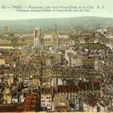 Panorama of Paris, French Vintage Wall Decor Products