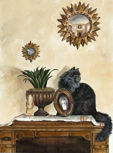 Cat Painting, Animal Painting by Ohio Artist Terri Meyer