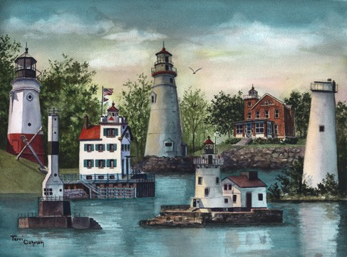 Decorative Painting, Lighthouse Painting
