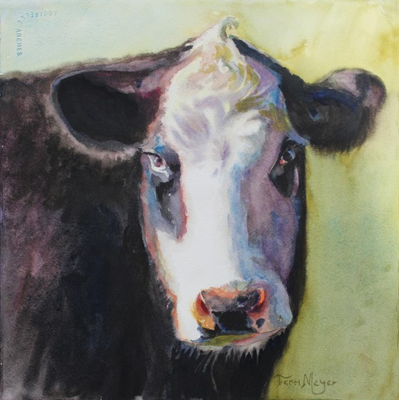 Portrait of a Cow by Ohio Artist Terri Meyer