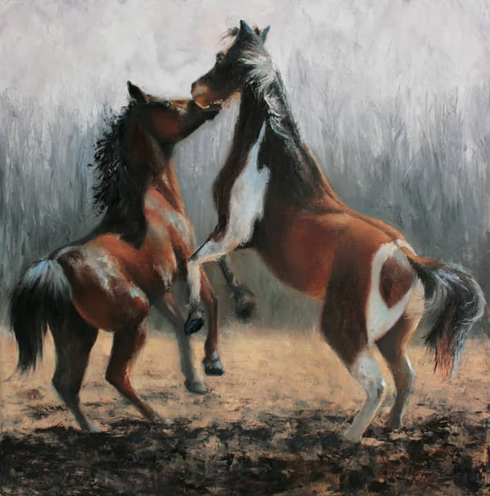 Horse paintng, Animal Painting, Equestrian Painting