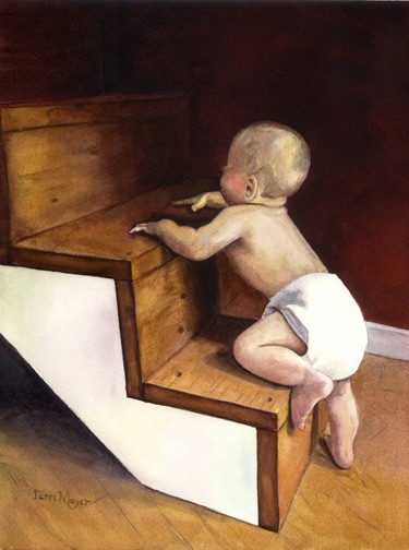 paintings of children, portrait paintings, watercolor portraits of children, paintings of babies