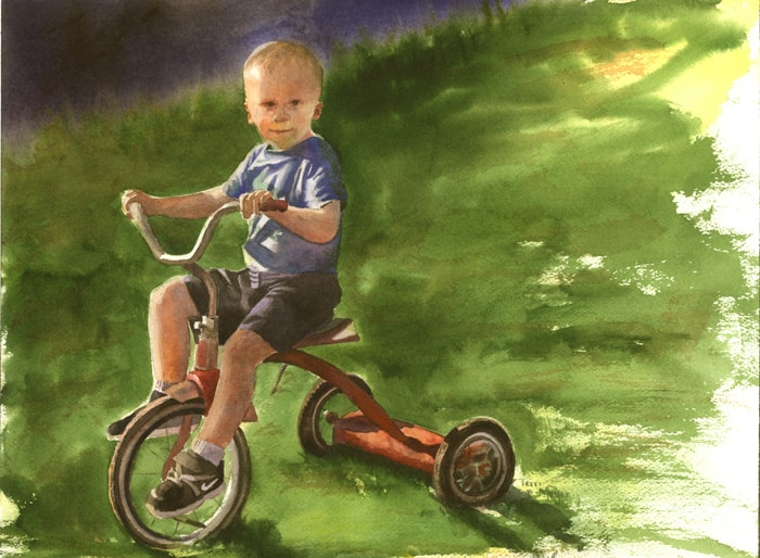 paintings of children, portrait paintings, watercolor portraits of children