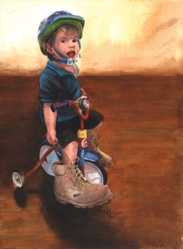 Paintings of Children, Watercolor Portrait Painting, Portraits of Children