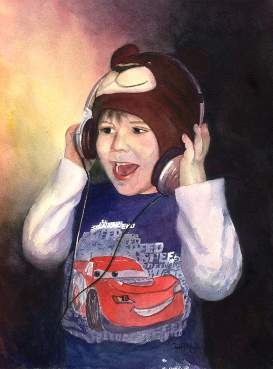 Paintings of Children, Portrait Painting, Watercolor Portrait Painting