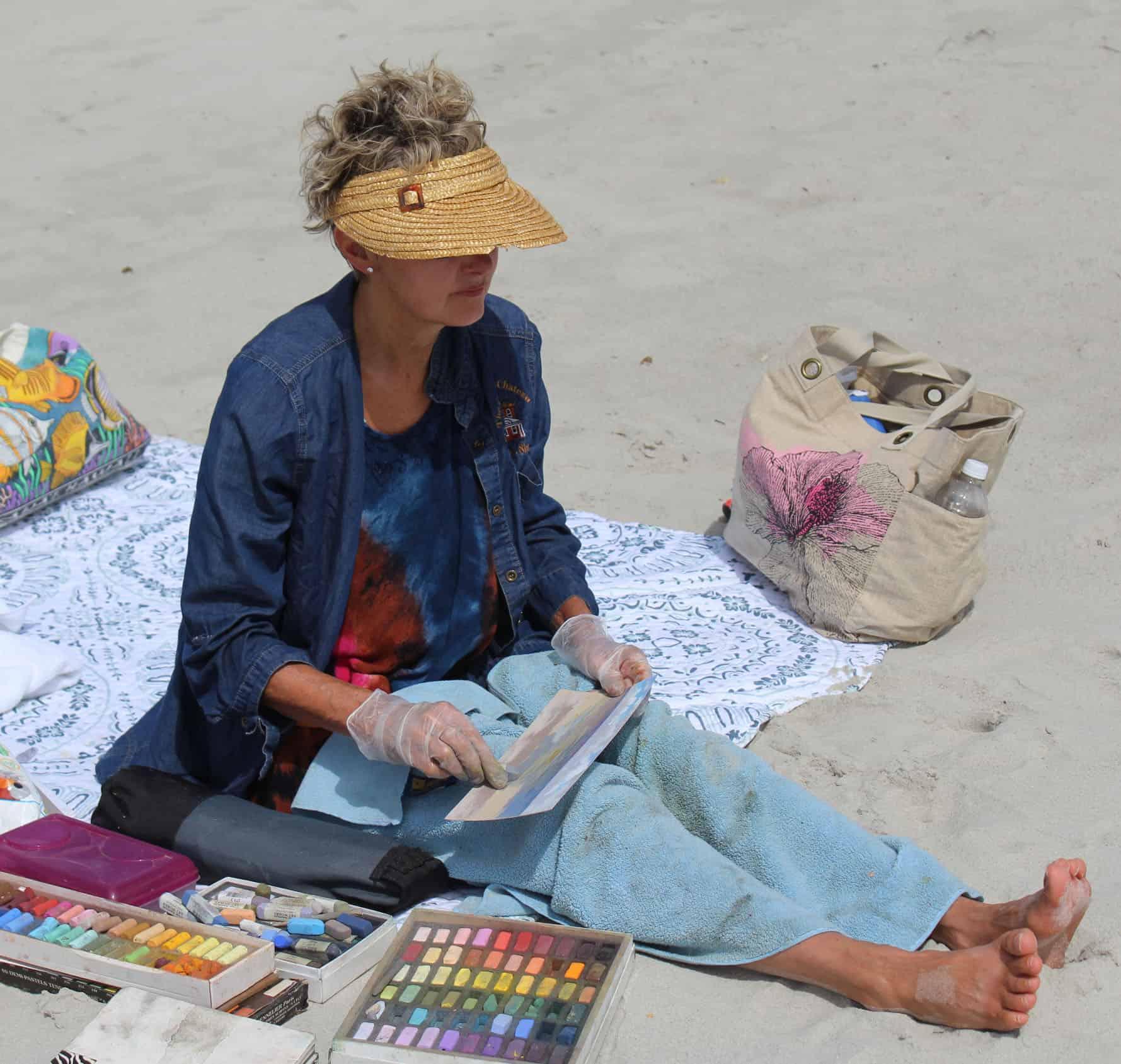 Terri Painting at Myrtle Beach