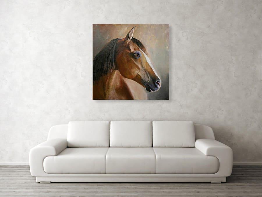 Horse Artwork over Sofa