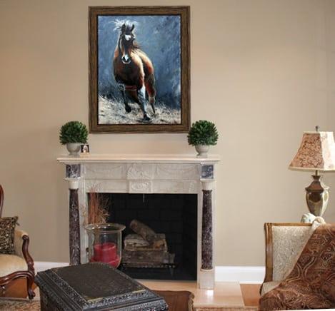 Framed Artwork - Horse Painting