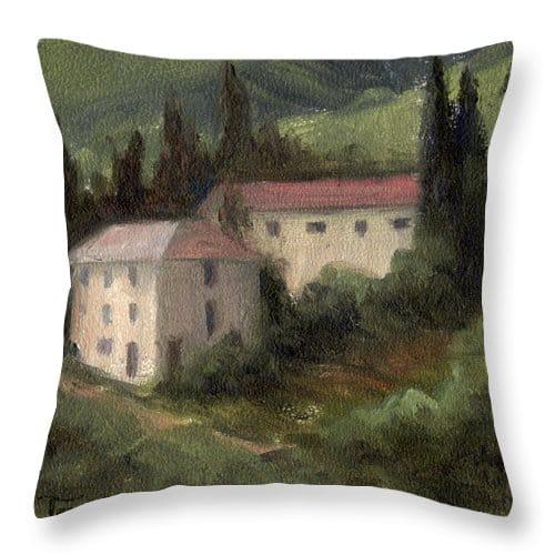 Tuscan Themed Throw Pillow