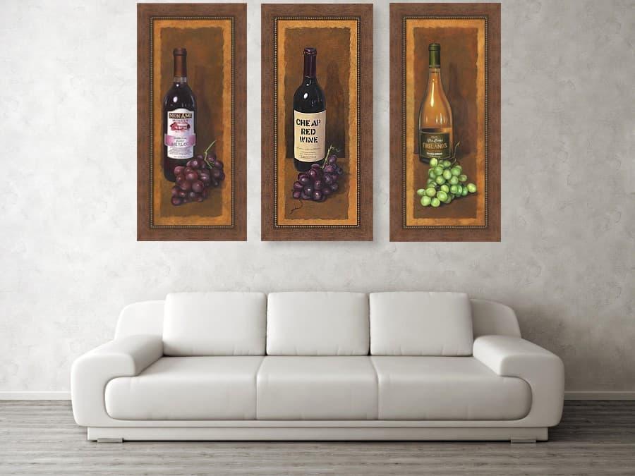 Framed Wine Art, Wine Bottle Artwork