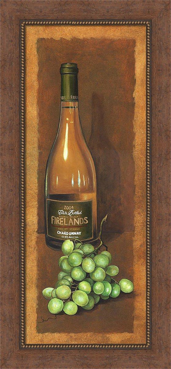 Framed Wine Art, Wine Bottle Painting