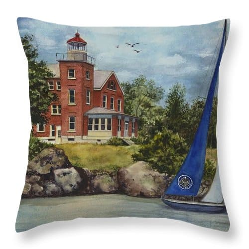 Put in Bay Throw Pillow