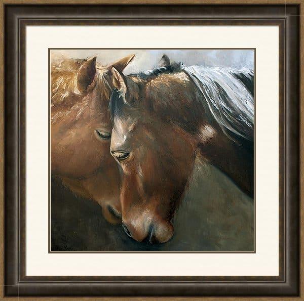 Framed Artwork, Framed Horse Painting, Framed Horse Print