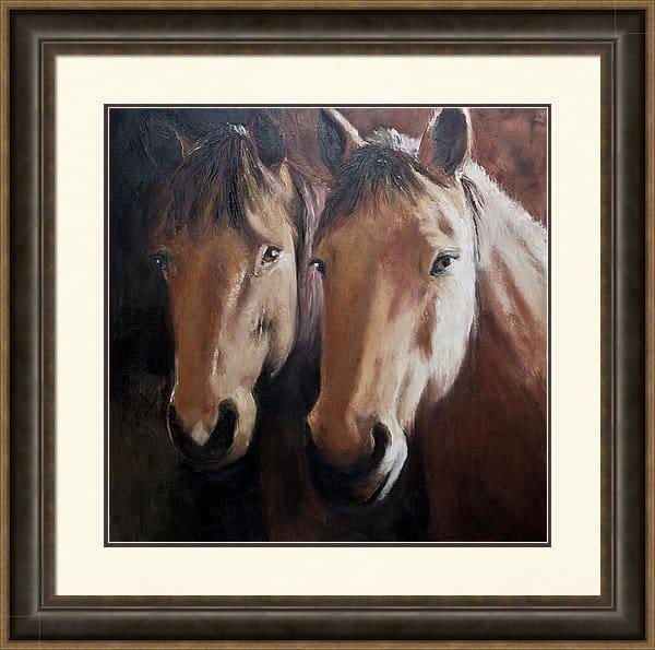 Framed artwork, Framed Horse Print, Framed Horse Painting, Framed Equestrian Art