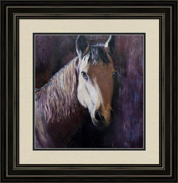 Framed Artwork, Framed Horse Painting, Framed Equestrian Art