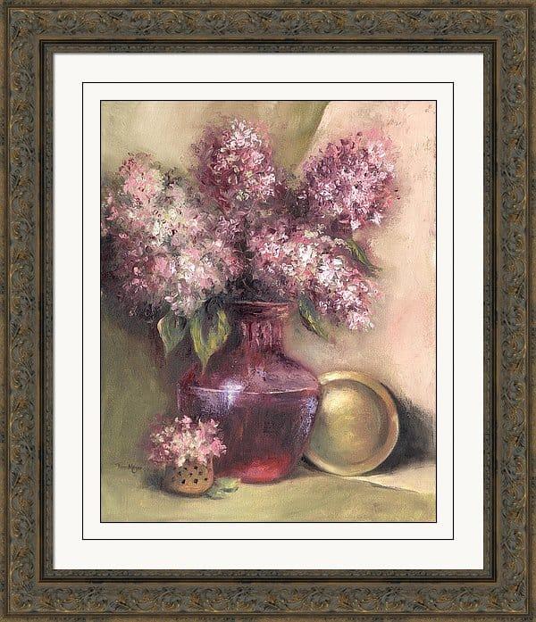 Framed Artwork, Framed Hydrangea Painting, Framed Hydrangea Print