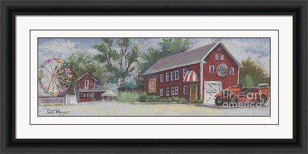 Old Firehouse Winery Painting, Framed Print, Framed Artwork