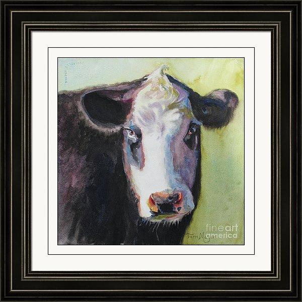 Framed Artwork, Framed Cow Painting, Framed Cow Artwork, Framed cow Print
