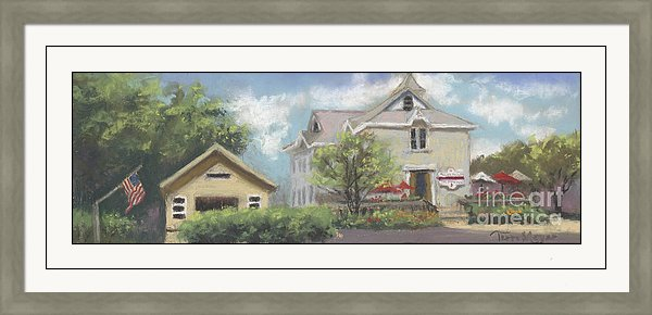 Framed Winery Print, Framed Artwork, Rocky Point Winery Painting