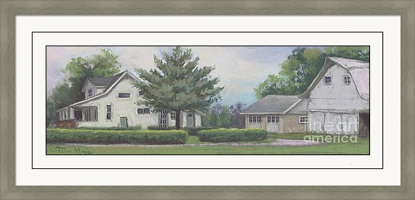 Rural Landscape Painting, Barn Painting, Framed Artwork, Framed Rural Landscape Print