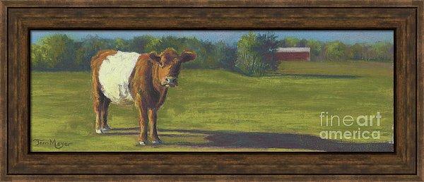 Framed Cow Print, Framed Rural Landscape, Cow Painting