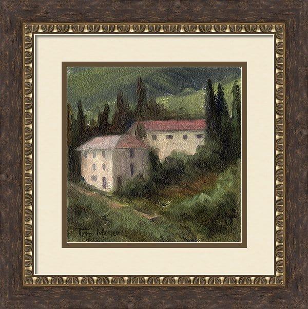 framed artwork, framed Tuscan landscape Painting, Framed Tuscan Landscape Print