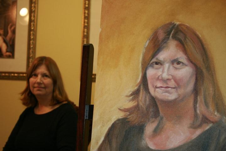 Portrait in Progress by Ohio Artist Terri Meyer