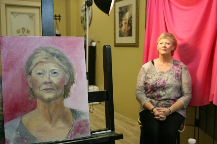 Portrait Painting Models Artist Group