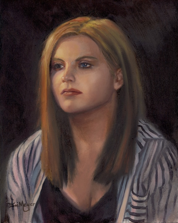 Oil Portrait by Ohio Artist Terri Meyer
